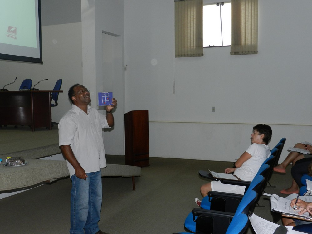 Segunda aula do curso de Braille, dia 12-02-2014