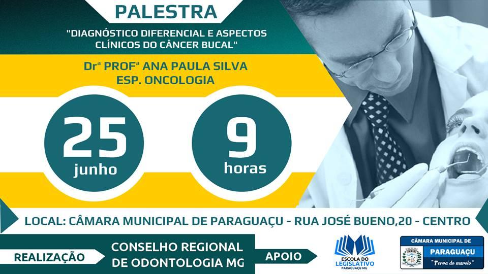 Palestra do Conselho Regional de Odontologia de Minas Gerais
